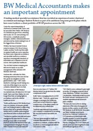 Further investment in medical finance experts