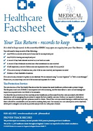 Healthcare Factsheet - Records to keep for your Tax Return