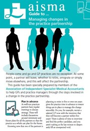 AISMA Guide to Managing changes in the practice partnership